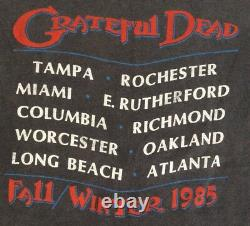 Vintage 80s The Grateful Dead 1985 Fall Tour T-shirt M Single Stitch Tee OG