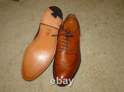 Vintage ALDEN MEN'S Leather Men's Shoes Brown Wing Tip Dead Stock Sz 9 1/2 R/D