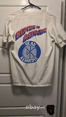 Vintage Dead Kennedys rare T-shirt, Bedtime For Democracy punk single stitch