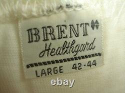 Vintage Dead Stock 60s 70s BRENT Pack 3 COTTON 100% Solid White T-shirt sz L USA