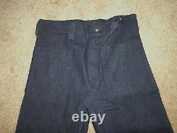 Vintage Dead Stock Seafarer US Navy Denim Dungarees Jeans Pants US Military31x34