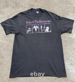 Vintage Echo And The Bunnymen Concert Tour T Shirt Dead Stock