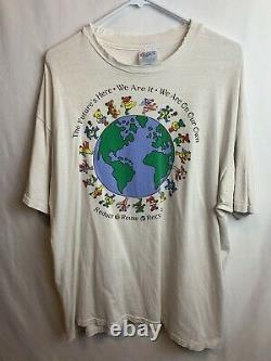 Vintage Grateful Dead 1992 Reduce Reuse Recycle Jerry Bears Earth T-shirt XL
