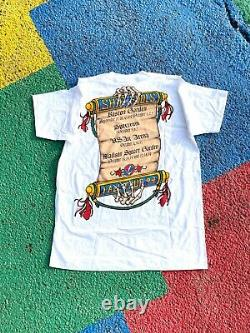 Vintage Grateful Dead 1993 Ship of Fools RARE White liquid blue shirt USA gdm XL