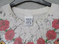 Vintage Grateful Dead All Over Print Under License To Brockum 90s T-Shirt