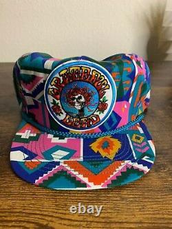 Vintage Grateful Dead Hat NOS Patch On Hat Rare Liquid Blue One Size