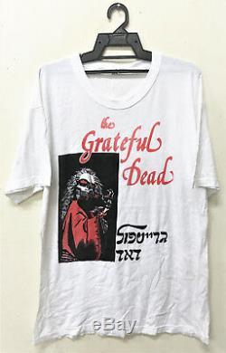 Vintage Grateful Dead Hebrew Rock Psychedelic Tour Concert Promo T-shirt Acid