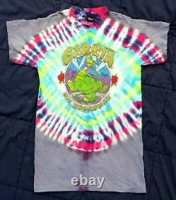 Vintage Grateful Dead Jerry Garcia T-Shirt M 1987 Dinosaur Tie Dye NWT RARE