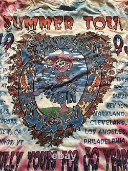 Vintage Grateful Dead Original 1995 Summer Tour 30th Anniversary T Shirt XL