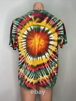 Vintage Grateful Dead Shirt I Steal Your Face 1988 Rasta Tye Dye XL Original