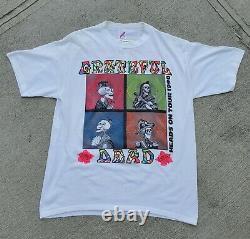 Vintage Grateful Dead Shirt T Shirt 1990 Summer Tour Heads 25th Anniversary XL