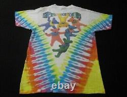 Vintage Grateful Dead Spring Tour 1991 Tie Dye Bear T-Shirt Large Single Stitch