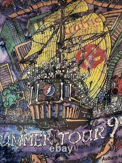 Vintage Grateful Dead Summer Tour 1994 Tie Dye T-Shirt Surfer Jerry Pirate Ship