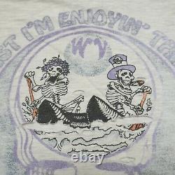 Vintage Grateful Dead T Shirt Enjoying The Ride L Very Rare Skeletons Canoes