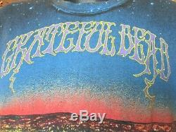 Vintage Grateful Dead T-Shirt (L) 1990 Wild Oats All Over Print Reckoning Tee