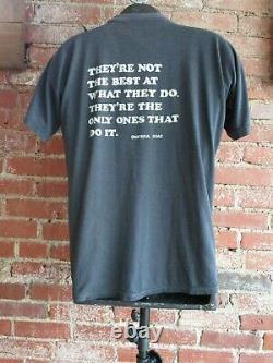 Vintage Grateful Dead T-Shirt (XL) Original Holy Tour 2-Sided Black Band Tee