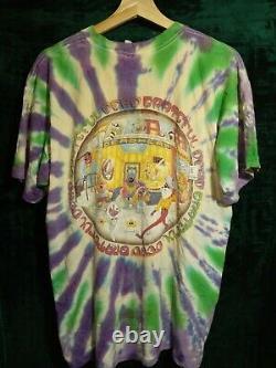 Vintage Grateful Dead The Deadhead Bears 1995 Tour Tie Dye T-shirt Original