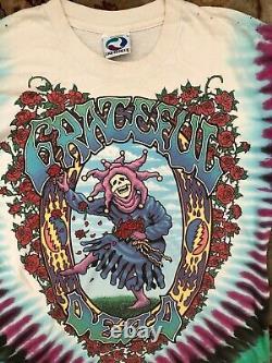 Vintage Grateful Dead Tie Dye Tee T-Shirt Top1993 Charles Everard Campbell L