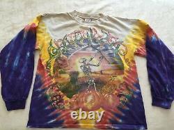 Vintage Grateful Dead Tshirt Top Shirt Fall 1994 Pumpkin Autumn Tie Dye M EUC