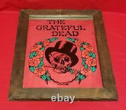 Vintage Grateful Dead Wooden Framed Carnival Fair Mirror 15 X 19 Overall