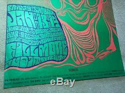 Vintage Greatful Dead Rock Poster 1966