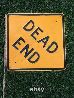 Vintage Industrial Salvage Art USA Lg. Country Dead End Street Sign