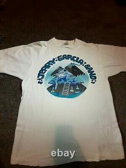 Vintage Jerry Garcia Band Shirt Grateful Dead Original 1989 Summer Tour moon L
