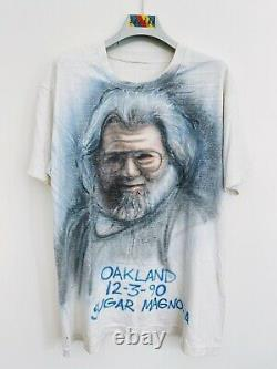 Vintage Jerry Garcia shirt 1990 Airbrush LOT TEE Grateful Dead One of a Kind