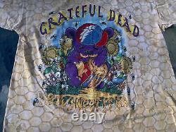 Vintage Liquid Blue Grateful Dead T-Shirt Large 1995 honey bees