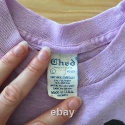 Vintage Michael Jackson Beat It T-Shirt Youth Large 1984 Original Lavender