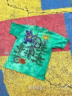 Vintage NWOT 1995 Grateful Dead GDM Dead Tread Graphic Shirt USA Tie Dye size XL