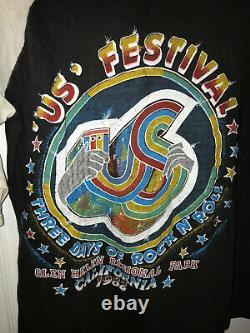 Vintage Original 1982 US FESTIVAL T-Shirt (Grateful Dead, Ramones, Kinks, Etc.)