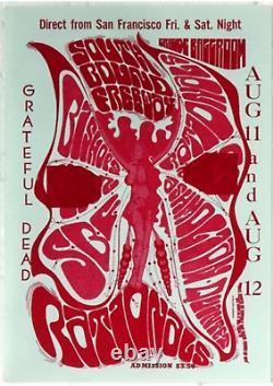 Vintage Original 67 Grateful Dead Grande Ballroom Detroit Michigan Concert Flyer