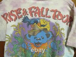 Vintage Original Grateful Dead Rise And Fall Tour Tee Shirt Tie Die Bears 1993