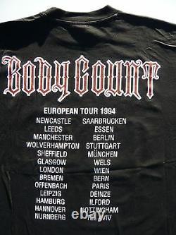 Vintage Original T-Shirt XL Body Count Ice-T 1994 Born Dead Euro Tour Tee Shirt