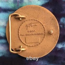 Vintage Pan-Galactic GDP Grateful Dead Steal Your Face Solid Bronze Belt Buckle