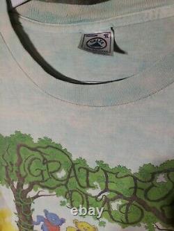 Vintage Rare Soft Worn Not Fade Away 97 98 Grateful Dead Bears XL Tie Dye Shirt