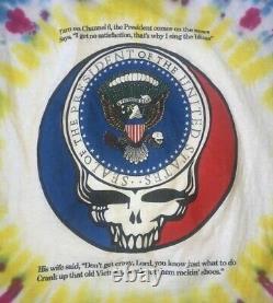 Vintage Vote Garcia In'92 Grateful Dead Tie Dye T Shirt One More Saturday Night