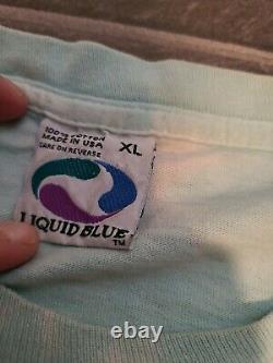 Vtg 1997 Liquid Blue Snowboard Polar Bear Penguin T Shirt Sz XL Grateful Dead