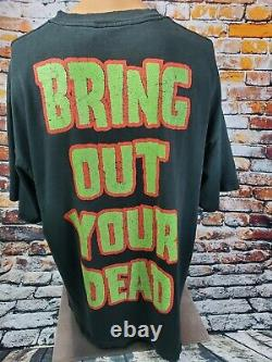 Vtg 1999 Rob Zombie Bring Out Your Dead Graphic Trashed Shirt Sz XL