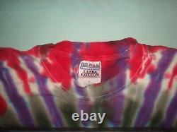 Vtg 2000 Grateful Dead Millenium Tie Dye Long Sleeve T Shirt XL Liquid Blue Spac