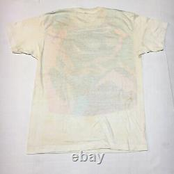 Vtg 80s the english beat Fifth column shirt L mosquitohead hand printed NOS