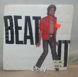 Vtg 84 Michael Jackson Beat It Concert Tour T Shirt sz L Deadstock Screen Stars