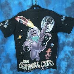 Vtg 90s GRATEFUL DEAD STANDING ON THE MOON ALL OVER PRINT T-Shirt LARGE concert