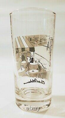 Vtg Chas Addams 5 1/2 Drinking Glass Tumbler Dead Tree Reaching For Water Cafe