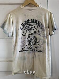 Vtg Grateful Dead At Stanford 1982 parking lot screen print tie dye sears XL tee