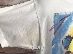 Vtg Jerry Garcia Vintage Dead Tee Shirt Single Stitch Size L Liquid Blue (803)