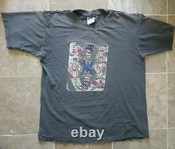 Vtg Original 1989 Grateful Dead Skeleton King Playing Card T-Shirt XL Distressed