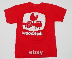 Woodstock t-shirt original 1969 vintage tee Hendrix Joplin Grateful Dead Medium